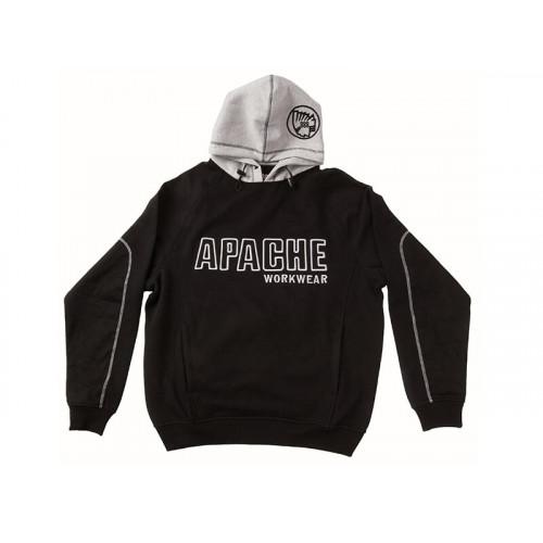Apache Hooded Sweatshirt Black / Grey - XL (48in)