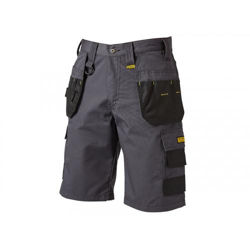 DeWALT Cheverley Lightweight Grey Polycotton Shorts Waist 34in