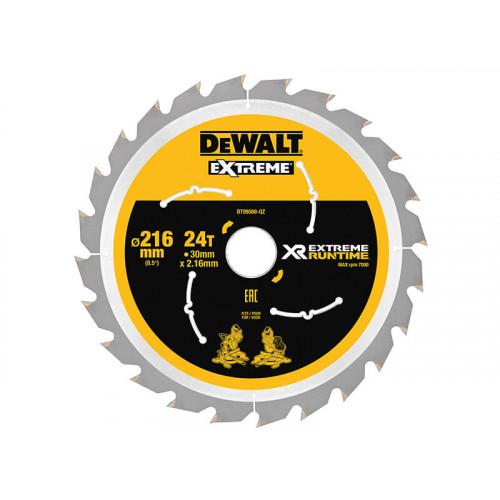 DeWALT XR FlexVolt Circular Saw Blade 216 x 30mm x 24T