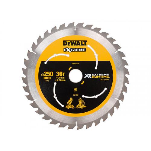 DeWALT Extreme Runtime FlexVolt Mitre Saw Blade 250 x 30mm x 36T