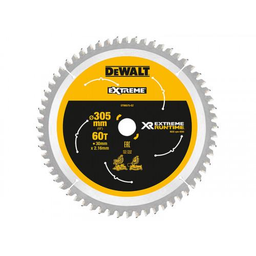 DeWALT XR FlexVolt Mitre Saw Blade 305 x 30mm x 60T