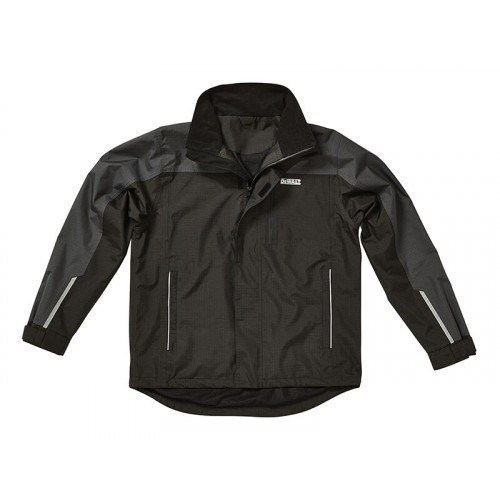 DeWALT Storm Grey/Black Waterproof Jacket - XXL (52in)