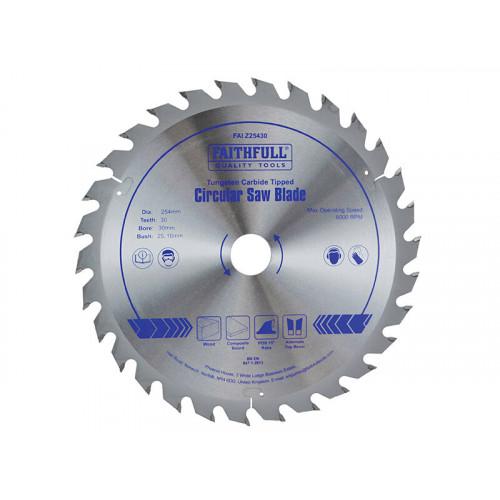 Faithfull TCT Circular Saw Blade 254 x 30mm x 30T POS