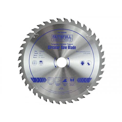 Faithfull TCT Circular Saw Blade 254 x 30mm x 40T POS