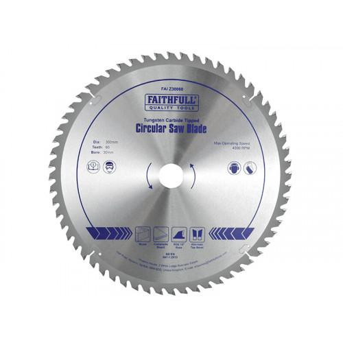 Faithfull TCT Circular Saw Blade 300 x 30mm x 60T POS