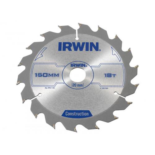 IRWIN® Construction Circular Saw Blade 150 x 20mm x 18T ATB