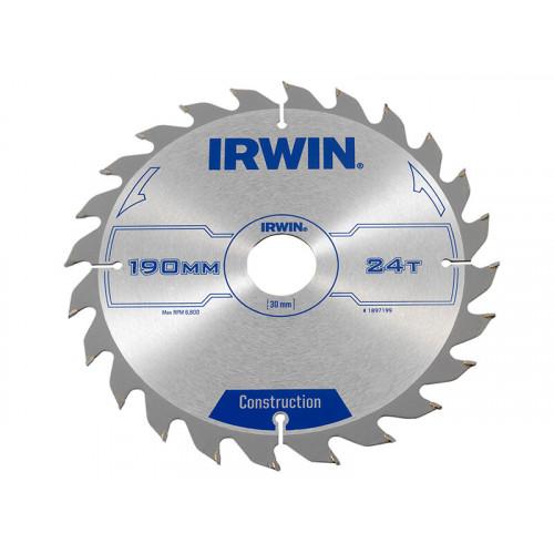 IRWIN® Construction Circular Saw Blade 190 x 30mm x 24T ATB