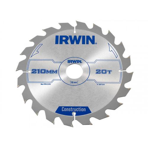 IRWIN® Construction Circular Saw Blade 210 x 30mm x 20T ATB