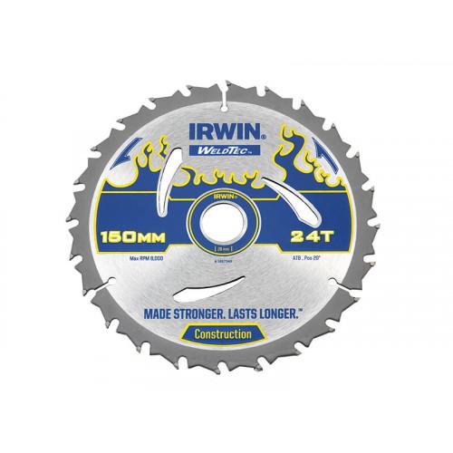 IRWIN® Weldtec Circular Saw Blade 150 x 20mm x 24T ATB