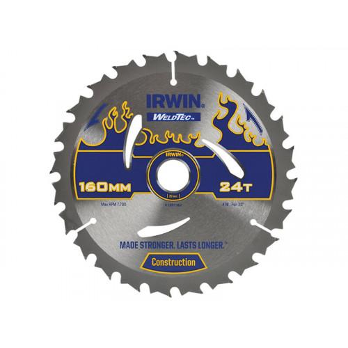 IRWIN® Weldtec Circular Saw Blade 160 x 20mm x 24T ATB