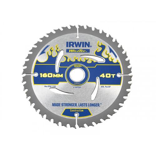 IRWIN® Weldtec Circular Saw Blade 160 x 20mm x 40T ATB