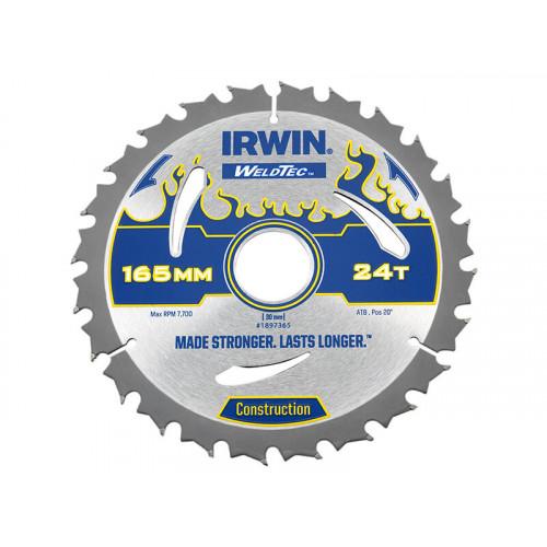 IRWIN® Weldtec Circular Saw Blade 165 x 30mm x 24T ATB