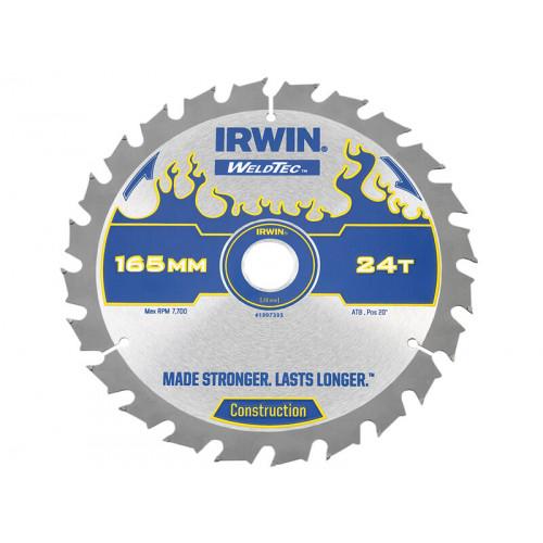 IRWIN® Weldtec Cordless Circular Saw Blade 165 x 20mm x 24T ATB