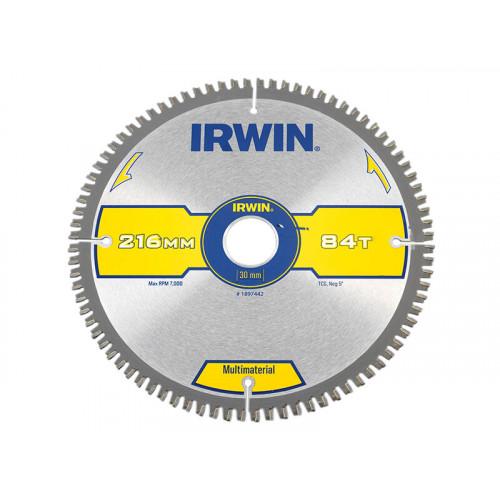 IRWIN® Multi Material Circular Saw Blade 216 x 30mm x 84T TCG