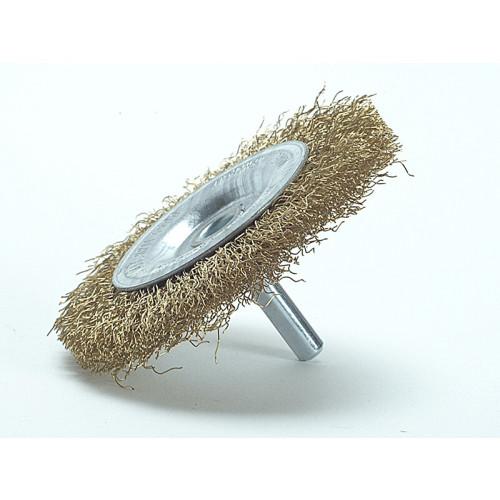 Lessmann DIY Wheel Brush 75 x 10mm, 0.25 Brass Wire