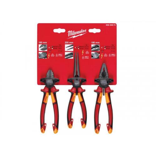 Milwaukee Hand Tools VDE Pliers Set, 3 Piece