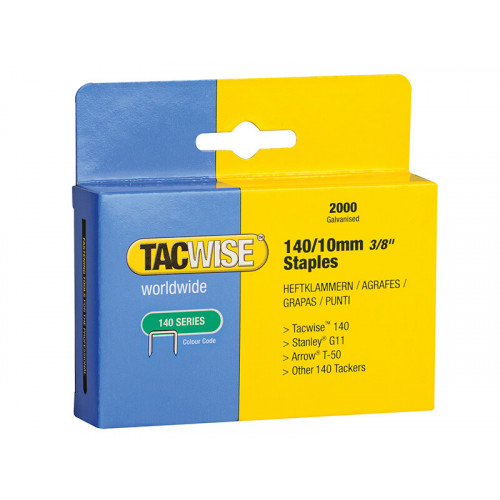 Tacwise 140 Heavy-Duty Staples 10mm (Type T50 G) (Pack 2000)